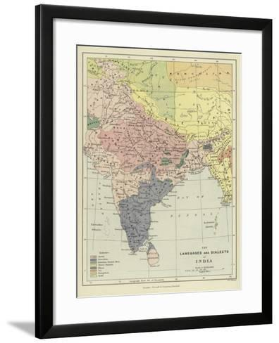 The Languages and Dialects of India--Framed Art Print