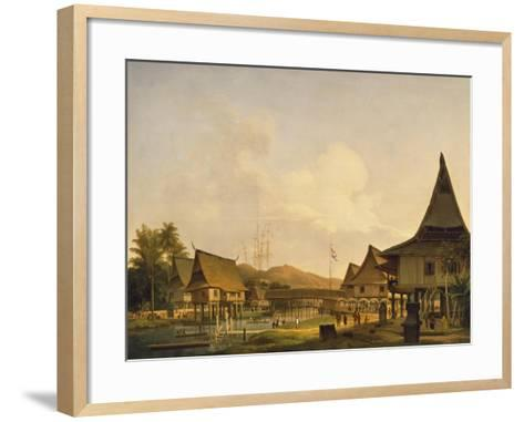View of a Village on the Island of Celebes--Framed Art Print
