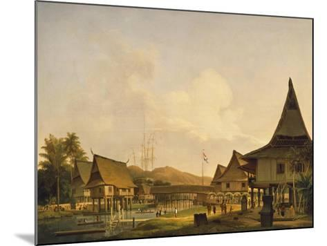 View of a Village on the Island of Celebes--Mounted Giclee Print
