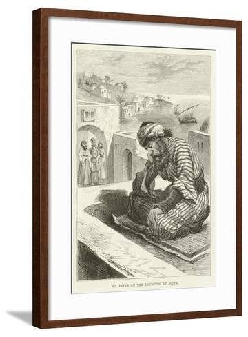 St Peter on the Housetop at Joppa--Framed Art Print