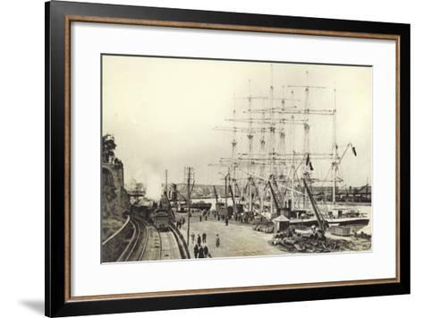 Nantes, Harbour--Framed Art Print