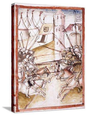 The Romans Attacking Augsburg, C.1490--Stretched Canvas Print