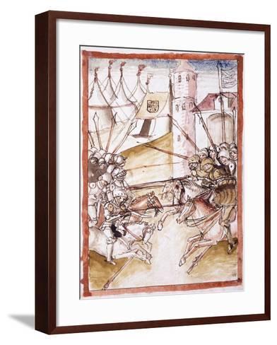 The Romans Attacking Augsburg, C.1490--Framed Art Print