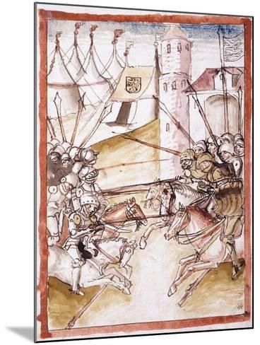 The Romans Attacking Augsburg, C.1490--Mounted Giclee Print