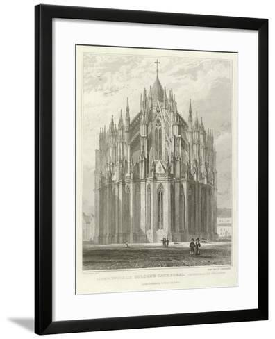 Cologne Cathedral-William Tombleson-Framed Art Print