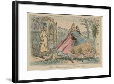 Miss Shannon's Arrival at Baldon Hall-Hablot Knight Browne-Framed Art Print