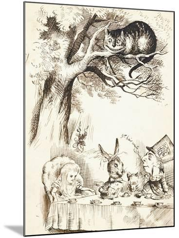 Scene from the Mad Hatter's Tea Party, C.1865-John Tenniel-Mounted Giclee Print