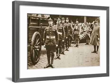 Marshal Foch Salutes the British Unknown Soldier--Framed Art Print