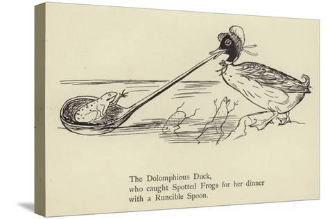 The Dolomphious Duck-Edward Lear-Stretched Canvas Print