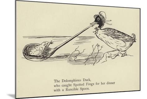 The Dolomphious Duck-Edward Lear-Mounted Giclee Print