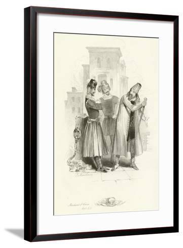 The Merchant of Venice-Joseph Kenny Meadows-Framed Art Print