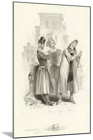 The Merchant of Venice-Joseph Kenny Meadows-Mounted Giclee Print