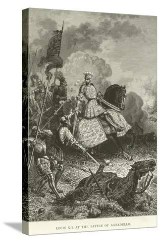 Louis XII at the Battle of Agnadello--Stretched Canvas Print