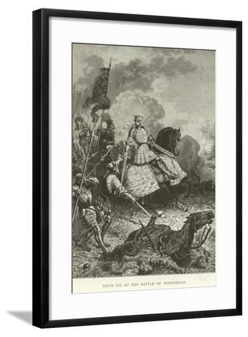 Louis XII at the Battle of Agnadello--Framed Art Print