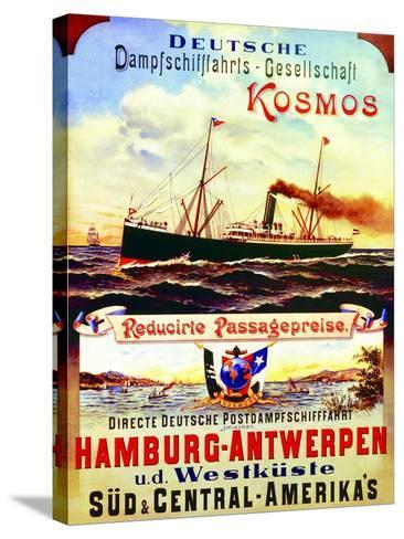 Poster Advertising Kosmos Steamship Company, 1901--Stretched Canvas Print