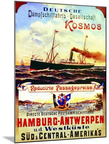 Poster Advertising Kosmos Steamship Company, 1901--Mounted Giclee Print