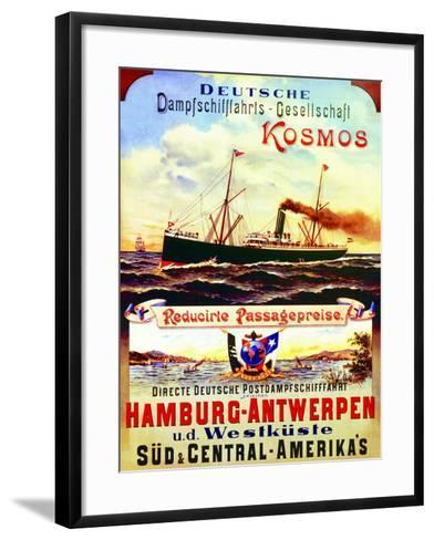 Poster Advertising Kosmos Steamship Company, 1901--Framed Art Print