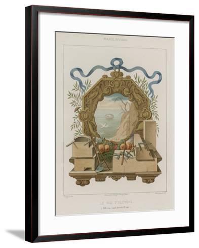 Kingfisher's Nest--Framed Art Print