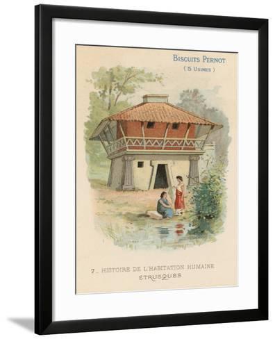 Etruscan House--Framed Art Print
