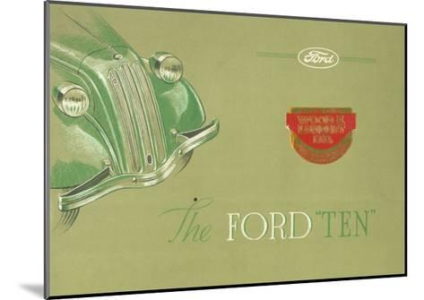Advertisement for the Ford 'Ten', C.1935--Mounted Giclee Print