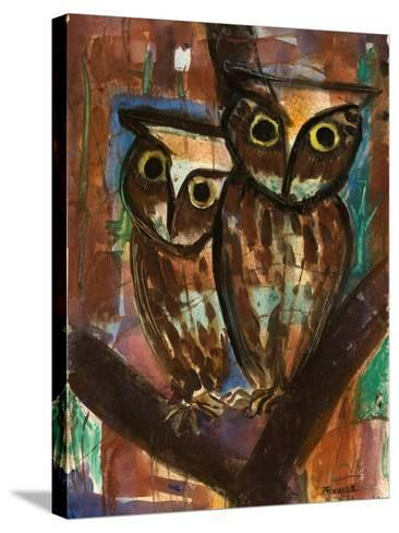 Two Owls-Anneliese Everts-Stretched Canvas Print