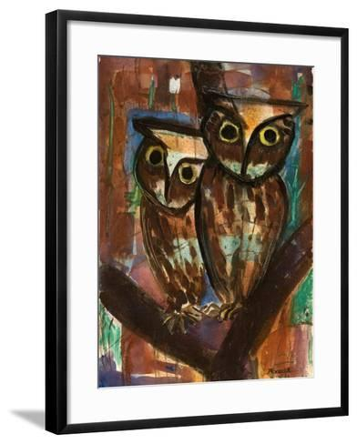 Two Owls-Anneliese Everts-Framed Art Print