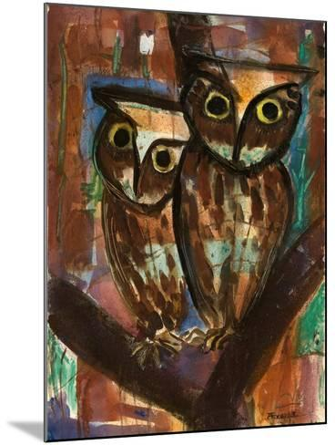 Two Owls-Anneliese Everts-Mounted Giclee Print
