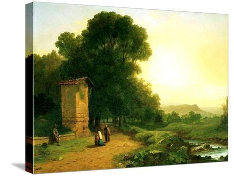 A Shrine in Italy, 1847-John Frederick Kensett-Stretched Canvas Print