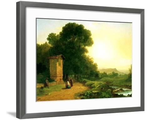 A Shrine in Italy, 1847-John Frederick Kensett-Framed Art Print