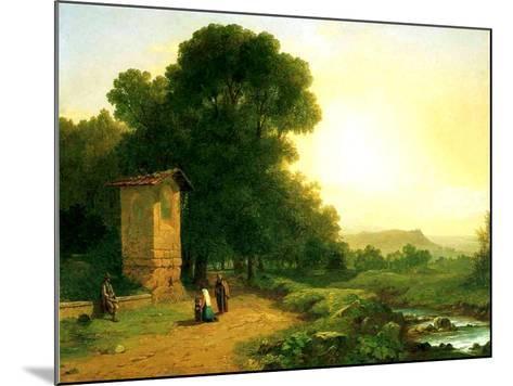 A Shrine in Italy, 1847-John Frederick Kensett-Mounted Giclee Print