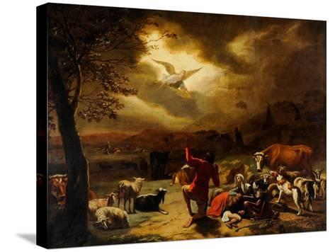 The Angel Appearing to the Shepherds--Stretched Canvas Print