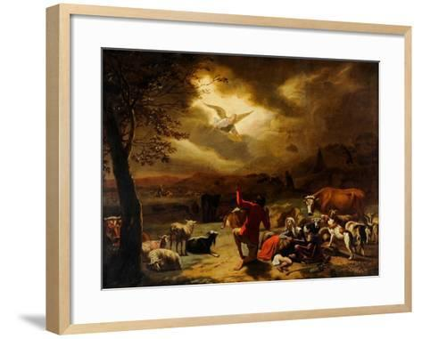 The Angel Appearing to the Shepherds--Framed Art Print