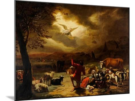 The Angel Appearing to the Shepherds--Mounted Giclee Print