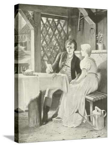 Goethe and Frederike-Hermann Kaulbach-Stretched Canvas Print