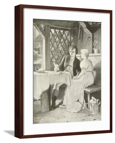 Goethe and Frederike-Hermann Kaulbach-Framed Art Print