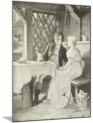 Goethe and Frederike-Hermann Kaulbach-Mounted Giclee Print