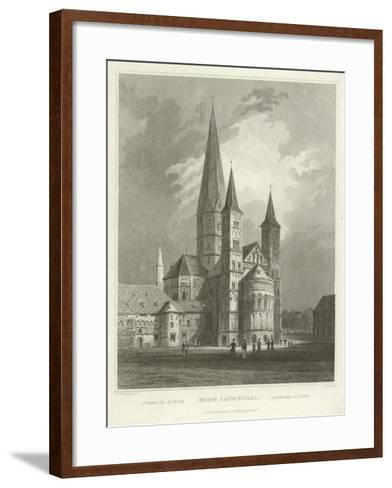 Bonn Cathedral-William Tombleson-Framed Art Print