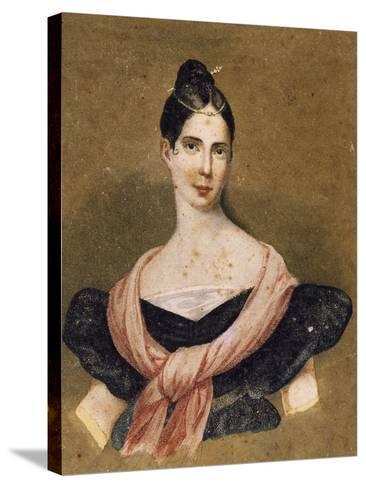 Portrait of Maria Malibran--Stretched Canvas Print
