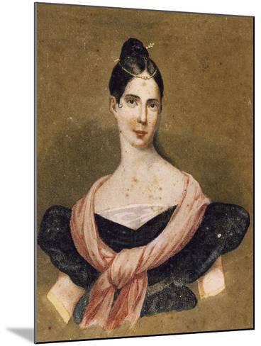 Portrait of Maria Malibran--Mounted Giclee Print