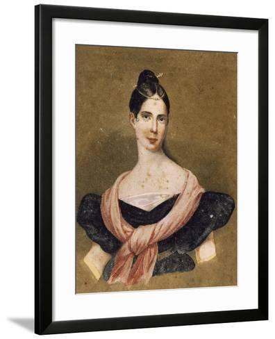 Portrait of Maria Malibran--Framed Art Print