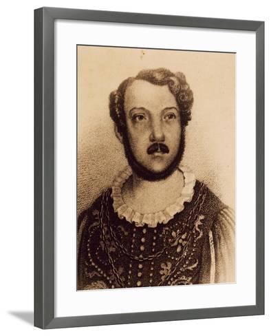 Portrait of Gian Battista Verger--Framed Art Print