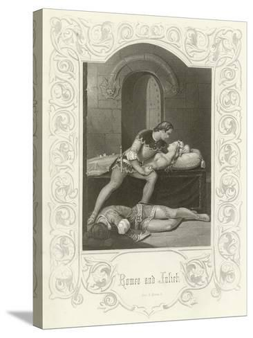 Romeo and Juliet, Act V, Scene III-Joseph Kenny Meadows-Stretched Canvas Print