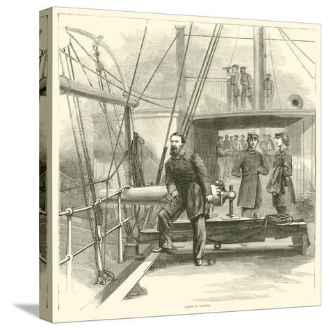 David D Porter, January 1865--Stretched Canvas Print
