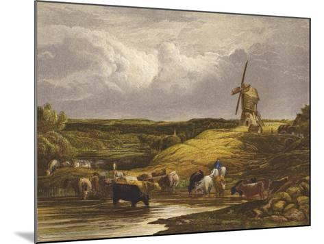 The Windmill--Mounted Giclee Print