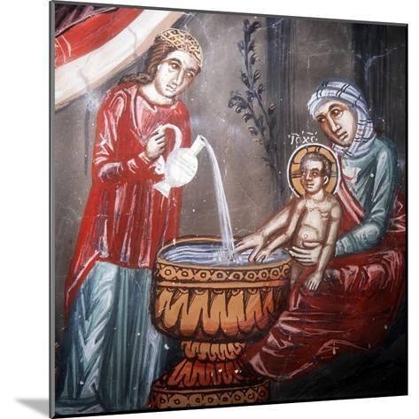Nativity, Detail of the Bathing of Jesus-Symeon Axenti-Mounted Giclee Print