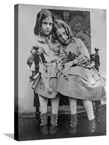Portrait of Two Young Girls, C.1853-John Gregory Crace-Stretched Canvas Print