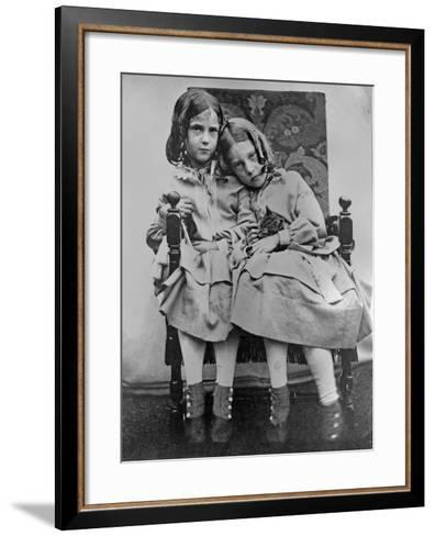 Portrait of Two Young Girls, C.1853-John Gregory Crace-Framed Art Print