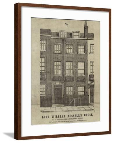 The Home of Lord William Russell--Framed Art Print