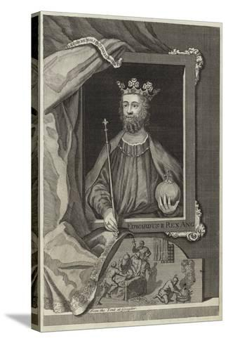 Portrait of Edward II of England--Stretched Canvas Print