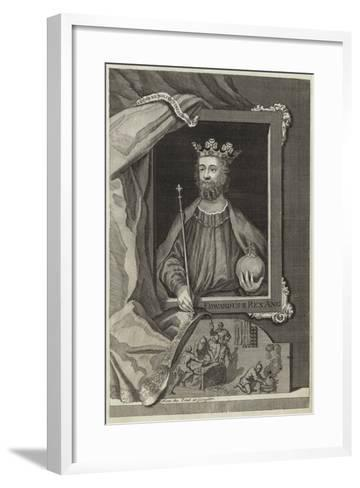 Portrait of Edward II of England--Framed Art Print